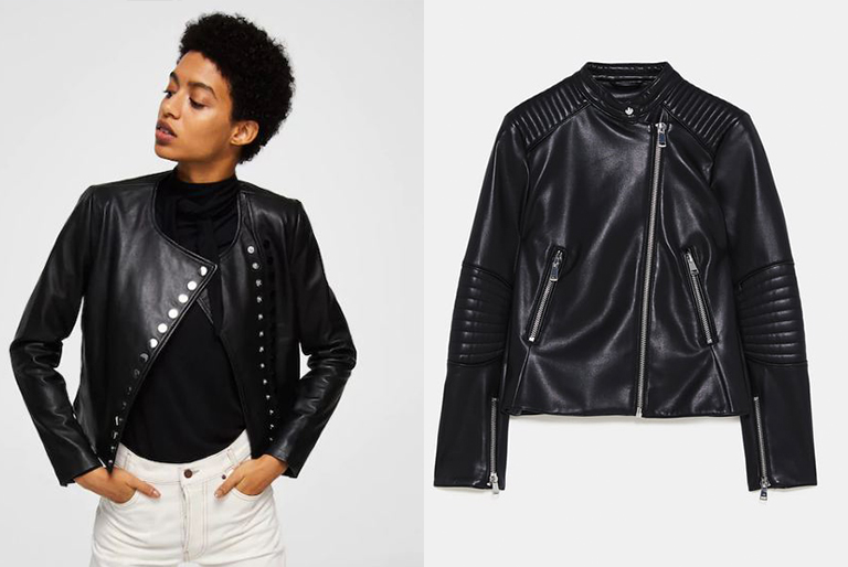 Way to Style a Leather Jacket// Zara and Mango
