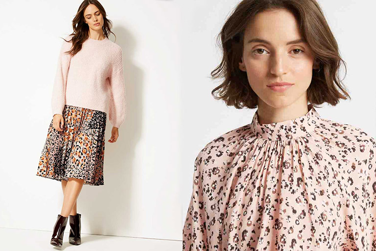 Animal Print And Pink -The New Fashion Trend // Marks and Spencer